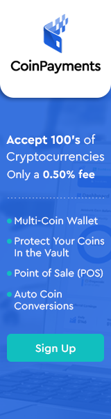 Banner advert for coinpayments.net